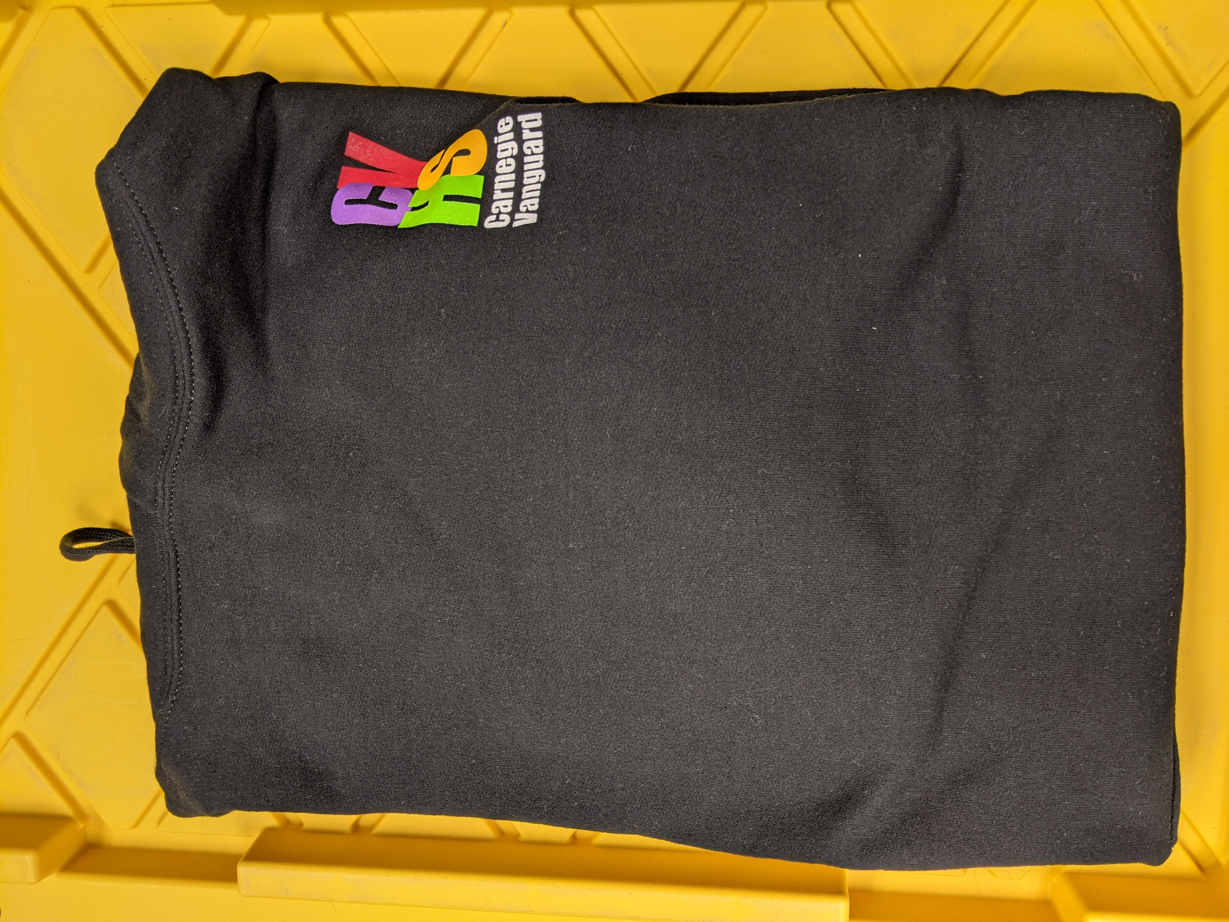 Sweatshirt Pullover Hoodie, Black with 4-color logo, 3XL ONLY