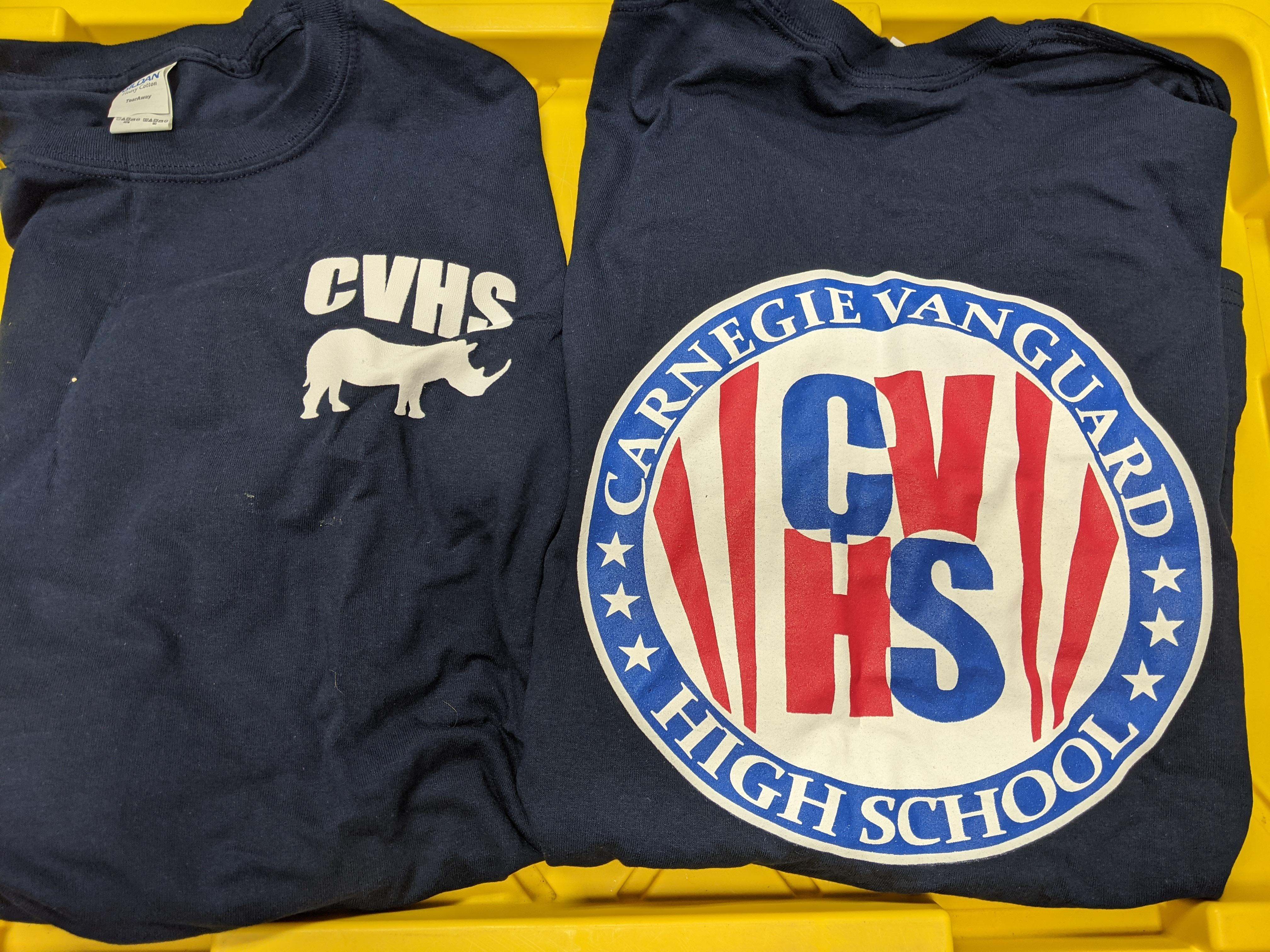 Long Sleeve T-Shirt, 3-Color Logo, Navy