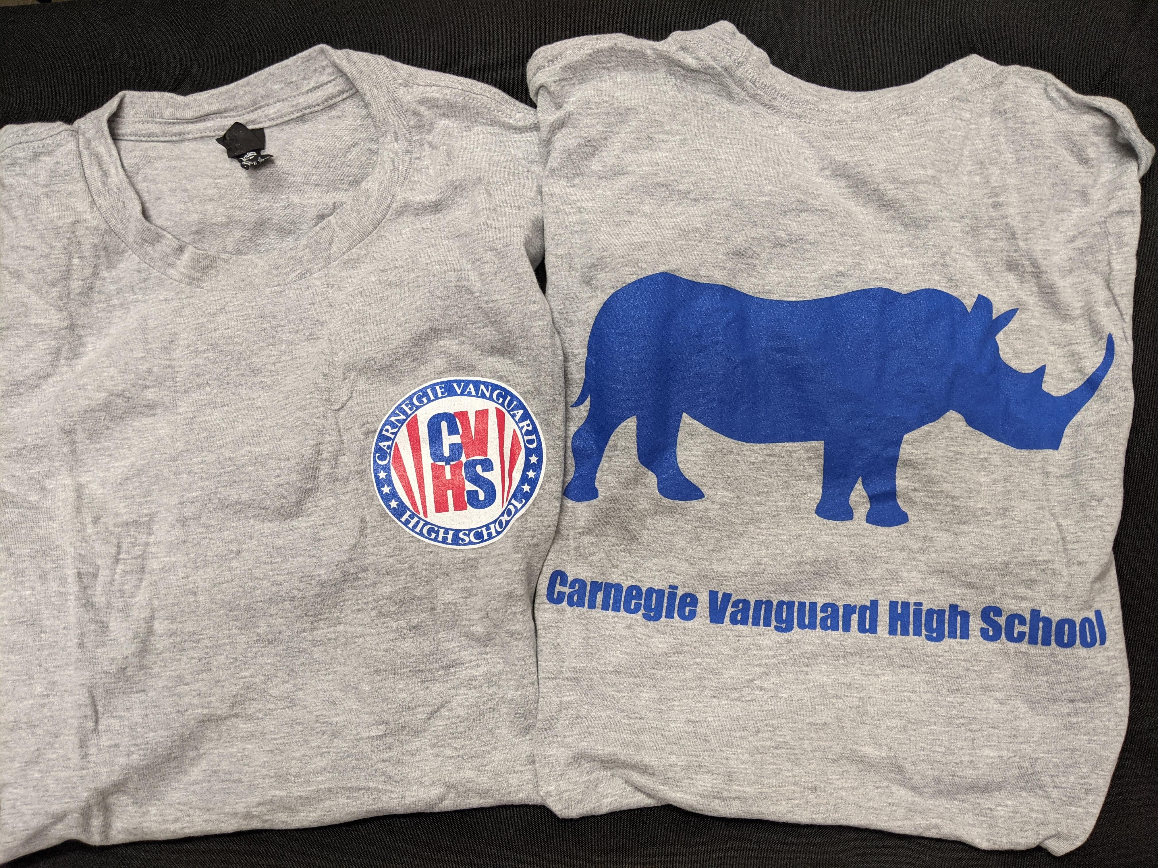 Short Sleeve T-Shirt, 3-Color Logo, Gray