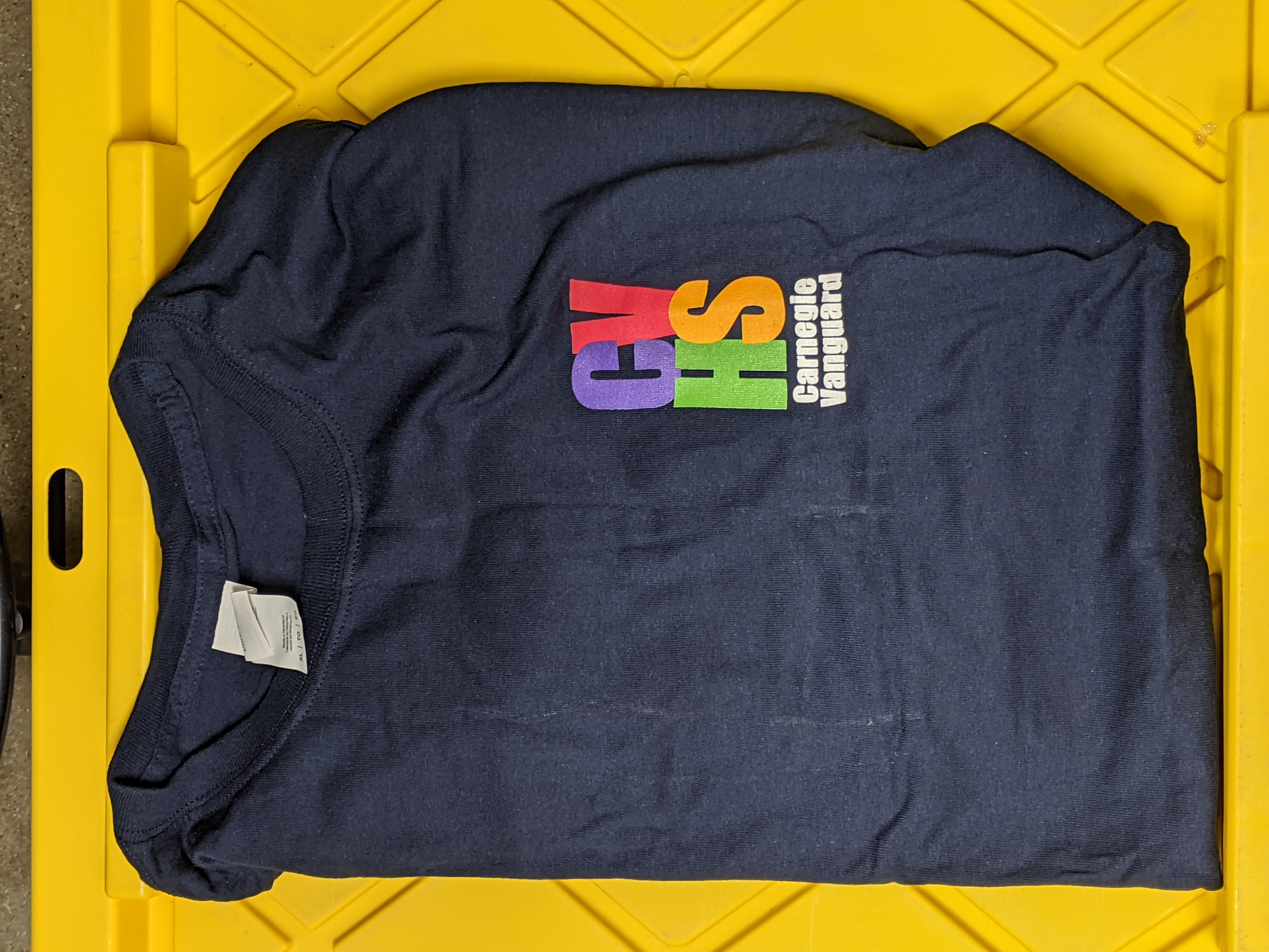 Sweatshirt Crew-neck Navy with 4-color logo (no S available)