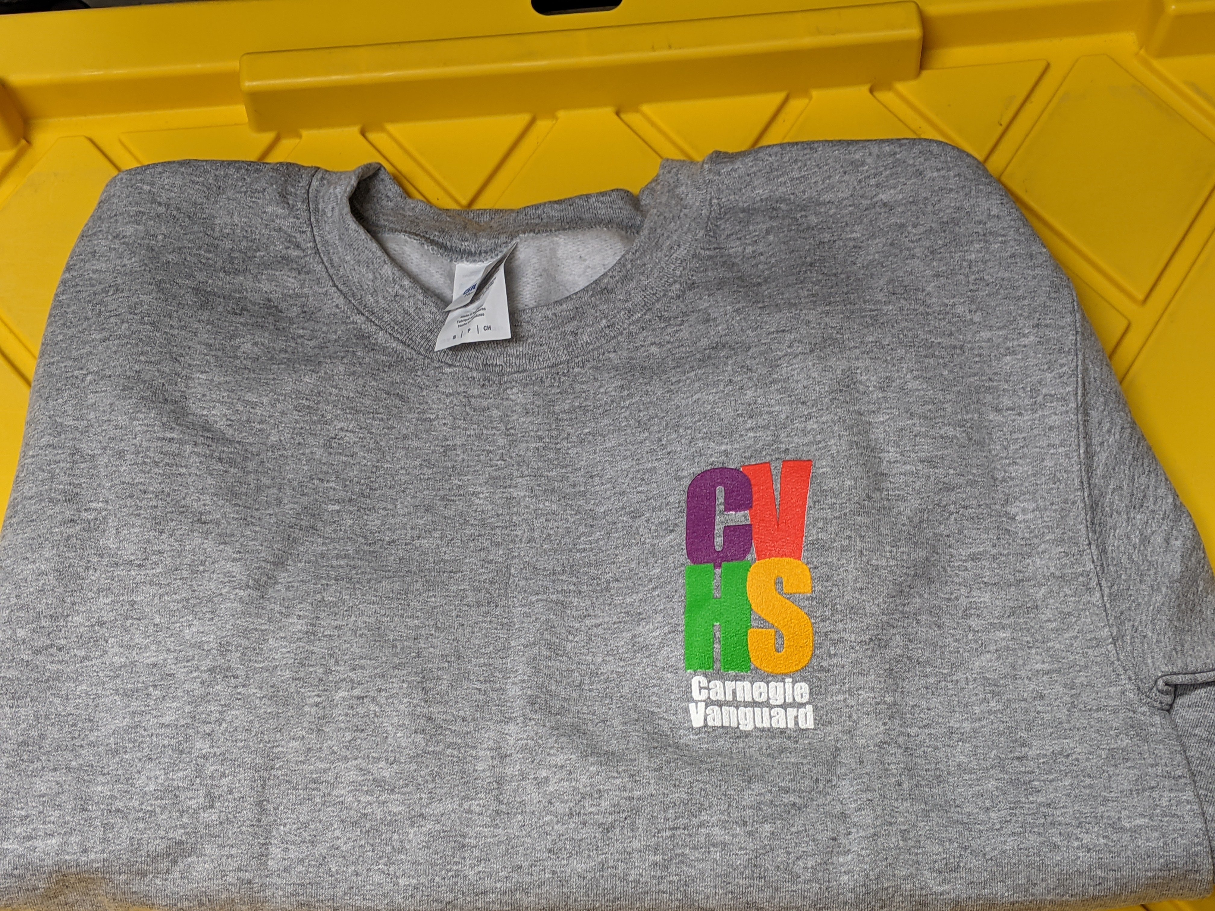 Sweatshirt Crew-neck grey with 4-Color Logo (S and L only)