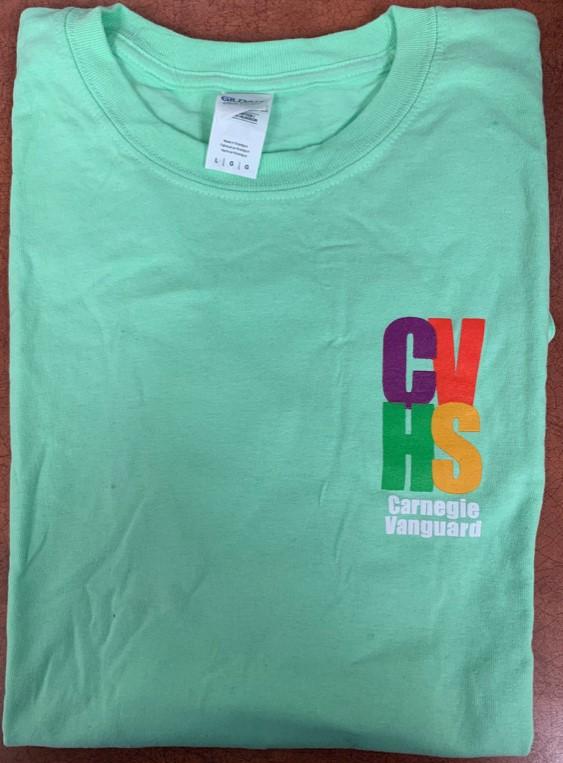 Short-sleeve t-shirt 4-Color Logo light green (L only)