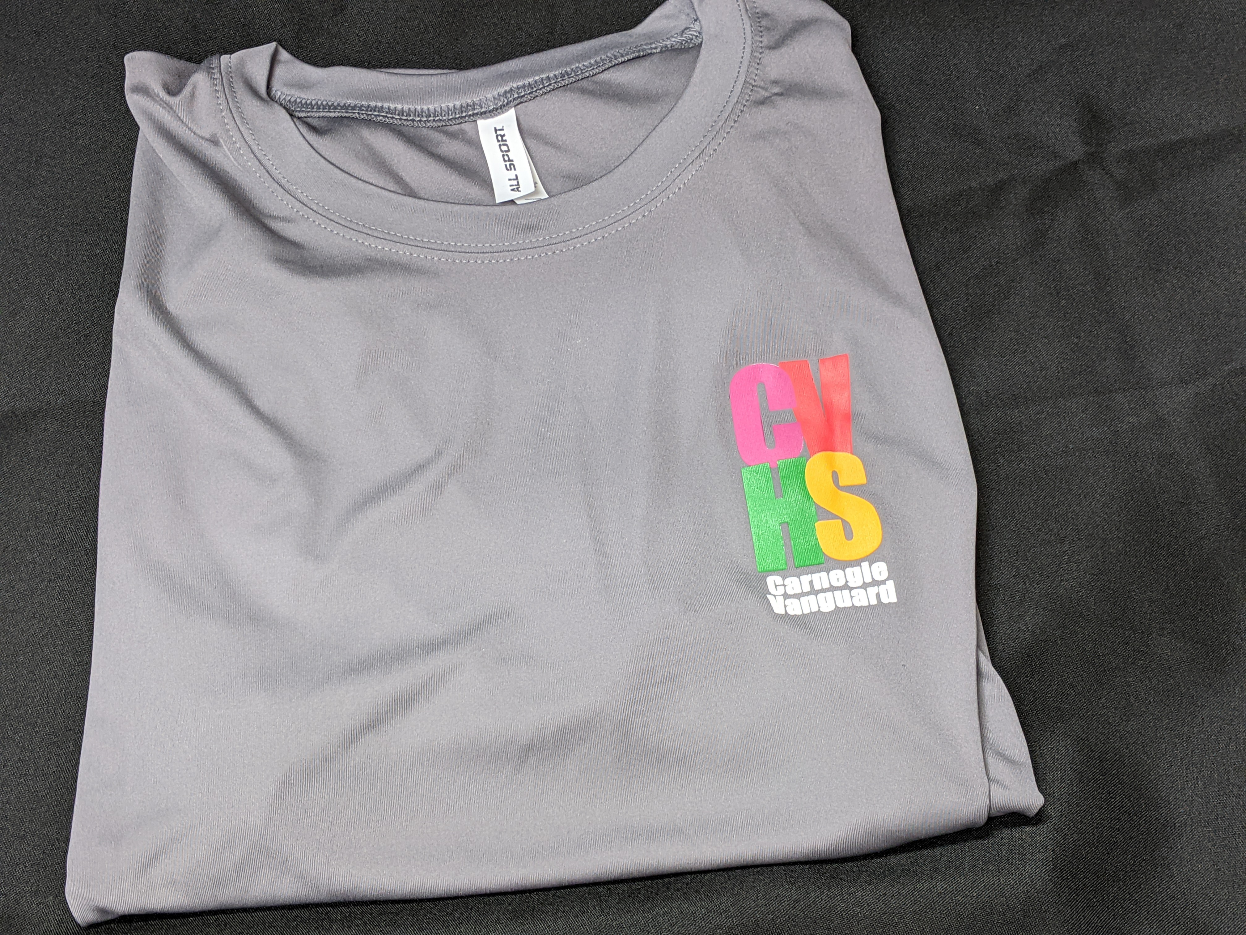 Short Sleeve T-Shirt with 4-Color logo, Gray Dri Fit (XL Only)
